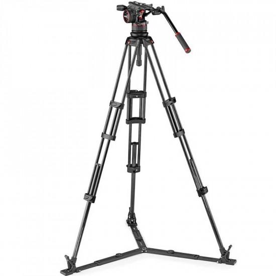 Manfrotto Nitrotech N12 Cabezal de Video con tripode de Twin GS Carbono hasta 12Kg / 1.76mts de altura