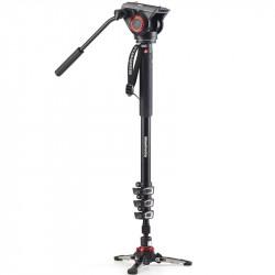 Manfrotto MVM XPro 500  Video Monopod 4 secciones con cabezal de fluido 500AH 5Kg
