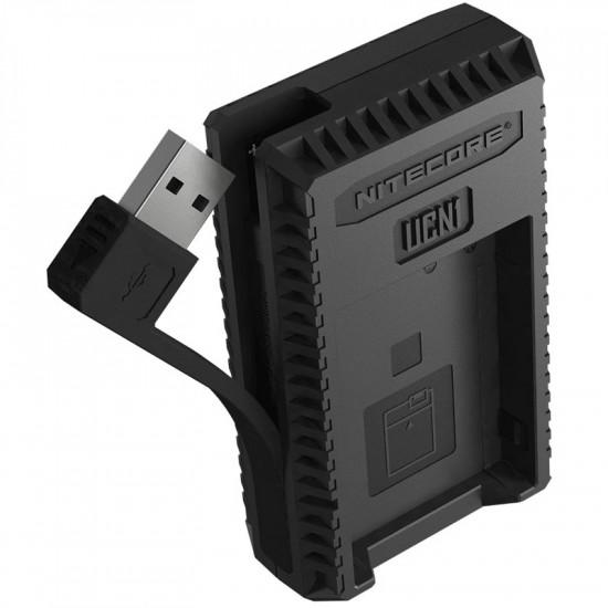 Nitecore UCN1 Cargador de viaje Doble USB para Canon LP-E6 y LP-E8