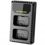 Nitecore USN1 Cargador de viaje Doble USB para Sony NP-FW50