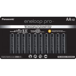 Panasonic Eneloop AA  12-Baterías Ni-MH  2550 mAh