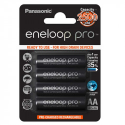 Panasonic Eneloop AA  4-Baterías Ni-MH  2500 mAh