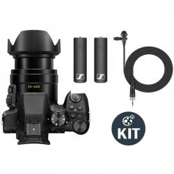 Panasonic Kit Lumix FZ300 4K Lente F2.8 25-600mm con Lavalier Sennheiser