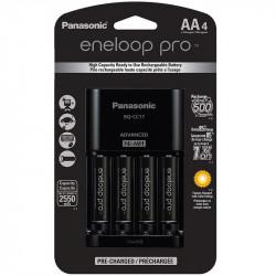 Panasonic Eneloop AA  4-Baterías Ni-MH con Cargador Advanced 2450 mAh