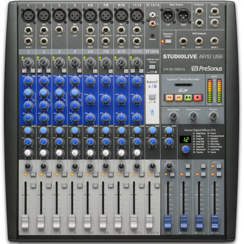 Presonus StudioLive AR12 USB Consola de audio 14 Canales con Recorder
