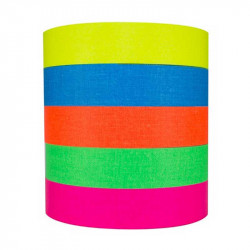 """Protapes PRO Spike stack Cinta 1"""" Fluorescente 5 Colores 5.5metros"""