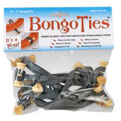 Bongo Ties Grip para Organizar Cables Pin madera Rubber Pack de 10