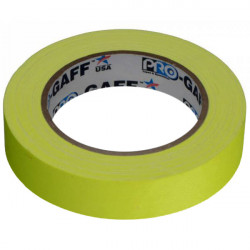 """Protapes PG1FLX25YEL Gaffer Mate Compact 1 """" x 25 yardas AMARILLO FLUORESCENTE"""