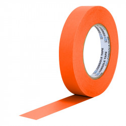 """Protapes Console Tape en 2,5cm / 1 """" de ancho ORANGE FLUORESCENTE"""