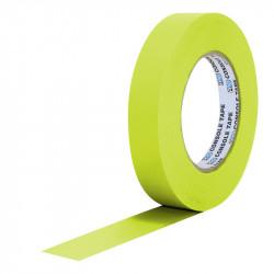 """Protapes Console Tape en 2,5cm / 1 """" de ancho AMARILLO FLUORESCENTE"""