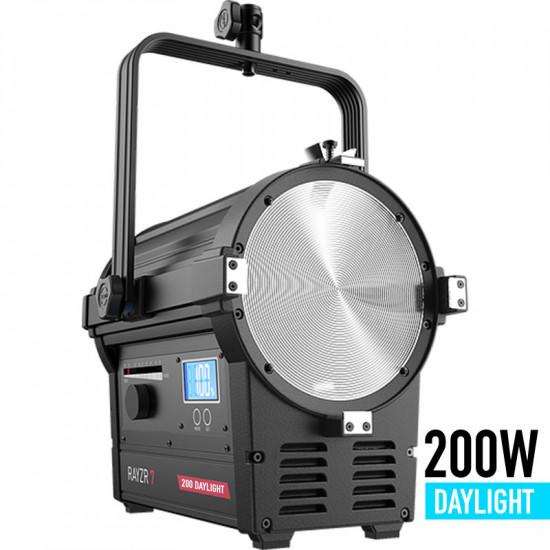 Rayzr 7 Premium Pack Fresnel LED de 7 pulgadas de 200W DAYLIGHT con maleta y barn doors