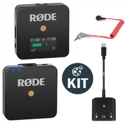 Rode Wireless GO Smart Kit Sistema de micrófono inalámbrico con Lighting