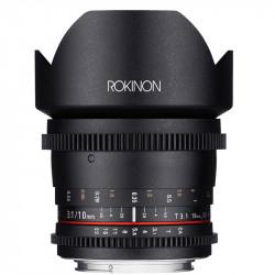 Rokinon Lente DS Cine Ultra Wide Angle 10mm T3.1 para EF Canon APS-C