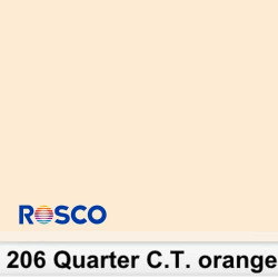 Rosco 206R Rollo 1/4 C.T.Orange 1.22 x 7.62 MTS