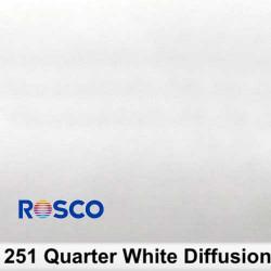Rosco 251R Rollo 1/4 White Diffusion  1,22 x 7,62 mts