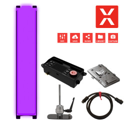 DMG LUMIERE MIX SL1 Full Color en KIT 2 con adaptador V-Mount,  driver y montura de stand