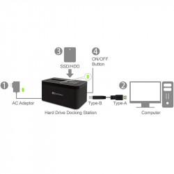 "Docking Station para HDD/SSD de 3.5"" o 2.5""   USB 3.0"