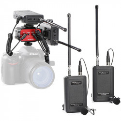 Saramonic Kit SR-WM4C 2 Lavalier omnidireccional Inalambrico VHF 4 canales y mixer