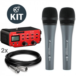 Saramonic Kit Entrevistas SR-PAX2 Mixer 2 XLR + 2 Mic Sennheiser E-835