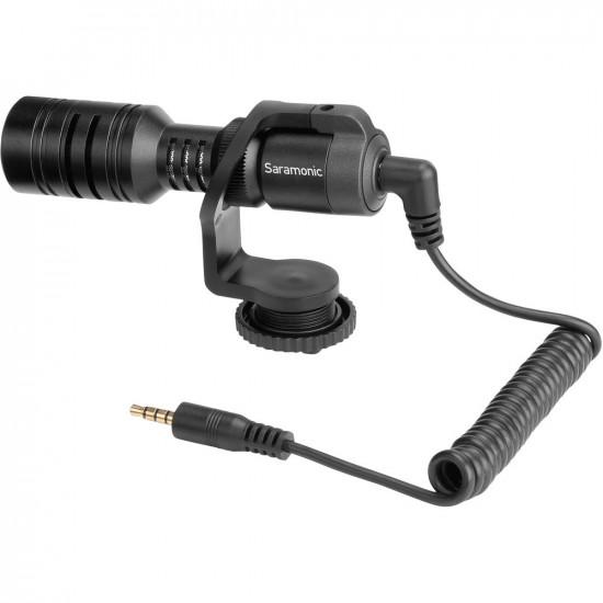 Saramonic Vmic Mini Micrófono Ultra Compacto Shotgun para Cámaras y Smartphones