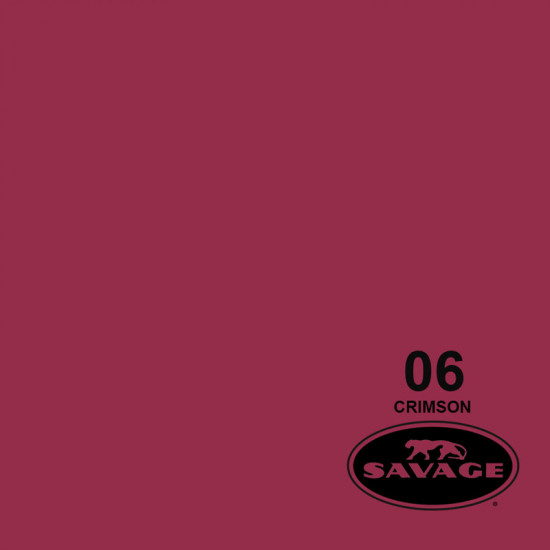 "Savage Fondo de Papel ""Crimson""rojo carmesí para backdrop de 2,72  x 11 mts SAV-06"