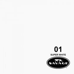 """BD Backgrounds 1.32 Fondo de Papel Blanco """"Super White""""  para backdrop de 1,32  x 11 mts No.129"""