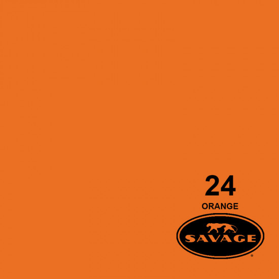 "Savage Fondo de Papel ""Orange"" Naranja para backdrop de 1,35  x 11 mts SAV-24-53"