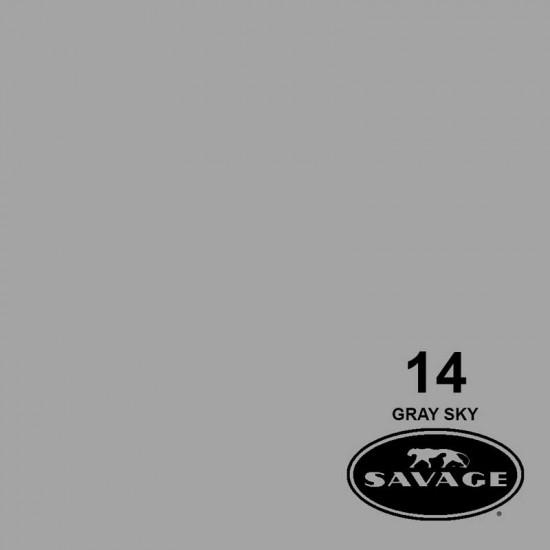 "Savage Fondo de Papel ""Gray Sky"" Gris Cielo para backdrop de 2,72  x 11 mts SAV-14"