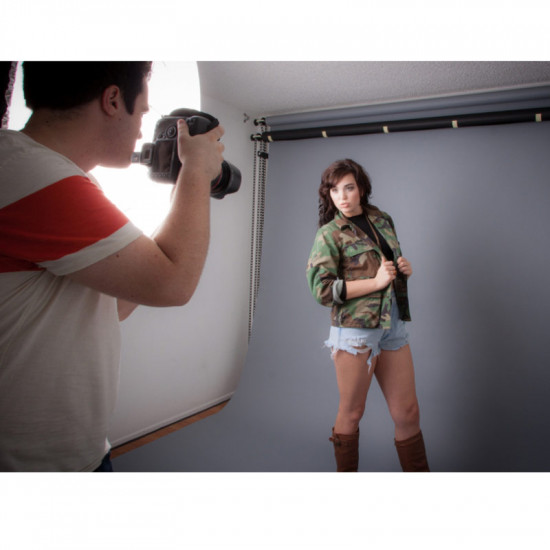 "Savage Fondo de Papel ""Fashion Gray"" Gris para backdrop de 2,72  x 11 mts SAV-56"