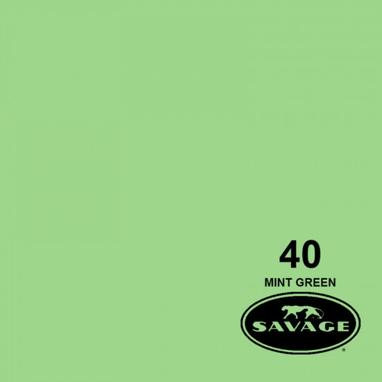 "Savage Fondo de Papel ""Mint Green""  para backdrop de 2,72  x 11 mts SAV-40"