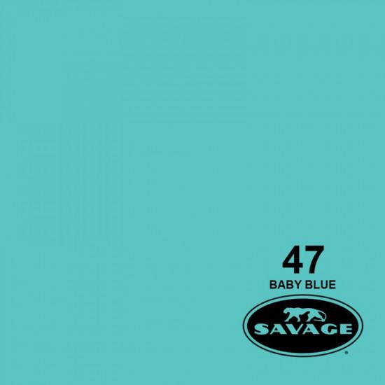"Savage Fondo de Papel ""Baby Blue""  para backdrop de 1,35  x 11 mts SAV-47-53"