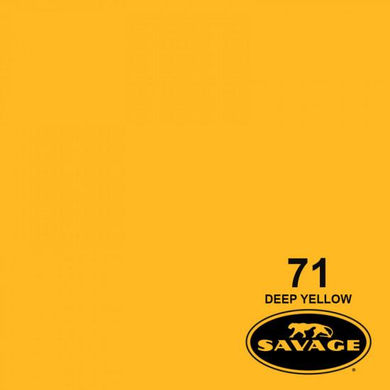 """Savage Fondo de Papel """"Deep Yellow"""" Amarillo para backdrop de 2,72  x 11 mts SAV-71"""