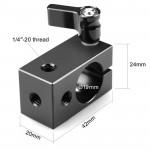 """SmallRig 1063 Rod Clamp (19mm) con entrada de perno 1/4"""""""
