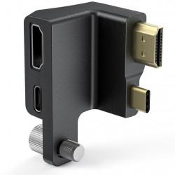 SmallRig AAA2700 Adaptador de ángulo recto HDMI y USB C de Cage Pocket Cinema Camera 4K