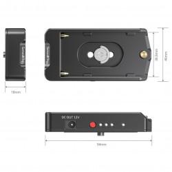SmallRig EB2504Placa Adapter Batería NP-F para cámaras con dos salidas 7.4V y 12V