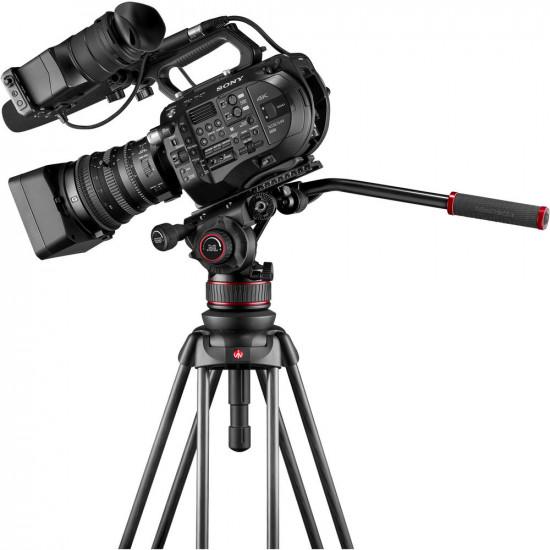 Manfrotto Kit Nitrotech 612 Cabezal Video con trípode alumino Twin