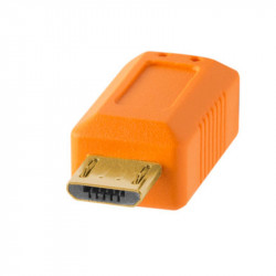 Tether Tools CU5430ORG Cable USB 2.0 A Male a Micro-B 5-Pin de 4.60mts