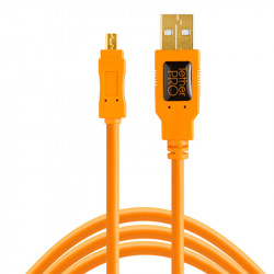 Tether Tools CU8015 Cable USB 2.0 A Male a Mini-B 8-Pin de 4.60mts