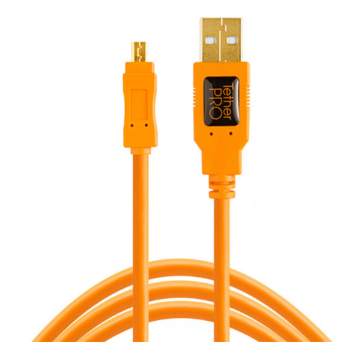 Tether Tools CU8015 Cable USB 2.0 A Male a Micro-B 8-Pin de 4.60mts