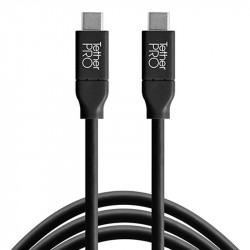 Tether Tools CUC15-BLK Cable USB-C a USB-C de 4.6mts