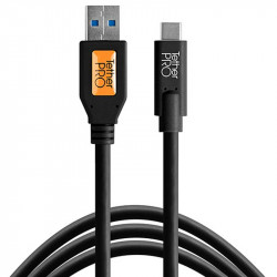 Tether Tools CUC3215-BLK Cable USB-C a USB-3.0 de 4.6mts