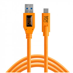 Tether Tools CUC3215ORG Cable USB-C a USB-3.0 de 4.6mts