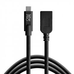 Tether Tools CUCA415BLK Cable USB-C Extender a USB A hembra de 4.6mts