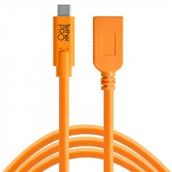 Tether Tools CUCA415ORG Cable USB-C Extender a USB A hembra de 4.6mts