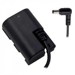 Tilta LP-E6 Dummy bateria a cable macho de 5.5 / 2.5mm DC