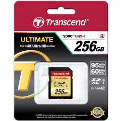 Transcend SDXC 256 GB Class 10 UHS-1 U3 Lectura 95MB/s