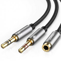 Ugreen Cable TRRS hembra de audio a dos TRS macho