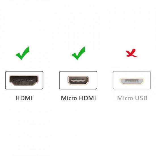 Ugreen Cable Micro HDMI a HDMI standard 4K de 3 MTS