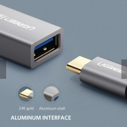 Ugreen 30646 Cable Adaptador USB-C a USB 3.0 hembra 5Gbps aluminio