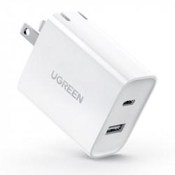 Ugreen Cargador de pared USB C y USB A de 30 W y 2 puertos